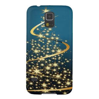Árbol de navidad de oro funda para galaxy s5