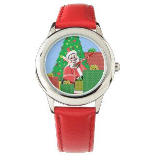 Árbol de navidad de Papá Noel Relojes De Pulsera