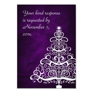 Árbol de navidad de plata púrpura que casa RSVP