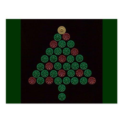 Árbol de navidad de Shell de escopeta Postales
