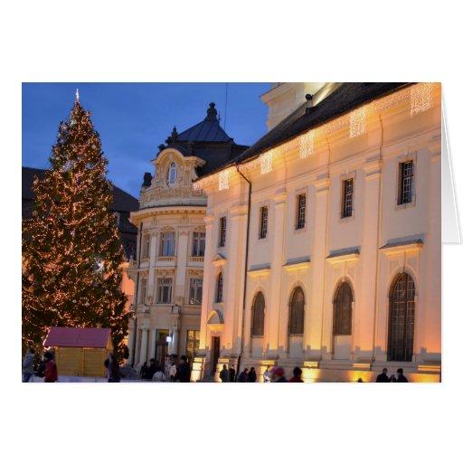 Árbol de navidad de Sibiu Tarjetas