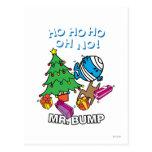 Árbol de navidad de Sr. Bump Decorating A Postales