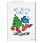 Árbol de navidad de Sr. Bump Decorating A Tarjeta De Felicitación