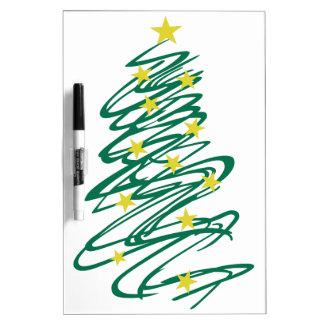 Árbol de navidad de Swirly Pizarras Blancas