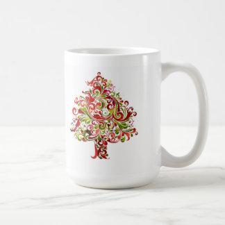 Árbol de navidad de Swirly Taza