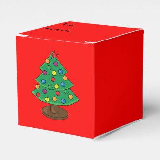 Árbol de navidad de tres gradas caja para regalos de fiestas
