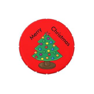 Árbol de navidad de tres gradas jarrones de dulces