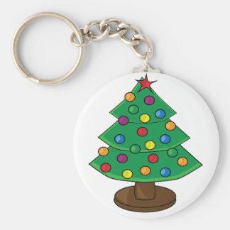 Árbol de navidad de tres gradas llavero redondo tipo pin