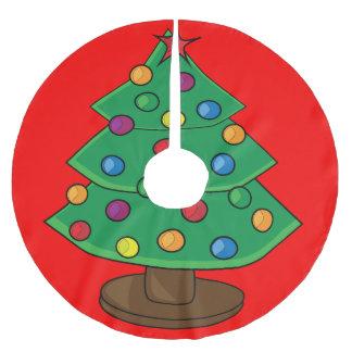Árbol de navidad de tres gradas falda de árbol de navidad de poliéster
