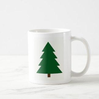 Árbol de navidad de Woodblock Taza
