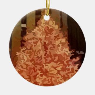 Árbol de navidad adorno redondo de cerámica