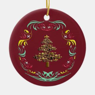 Árbol de navidad decorativo de la flor de lis (Bur Ornamento Para Arbol De Navidad
