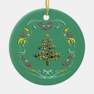 Árbol de navidad decorativo de la flor de lis (ver adorno