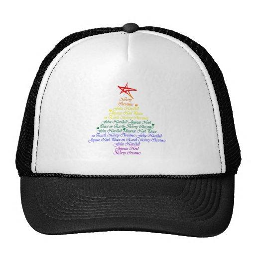 Árbol de navidad del arco iris gorros