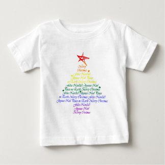 Árbol de navidad del arco iris playeras