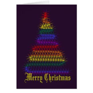 Árbol de navidad del arco iris felicitación