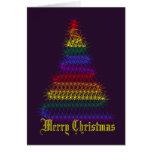 Árbol de navidad del arco iris tarjeta de felicitación