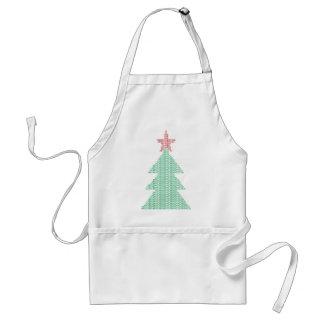 Árbol de Navidad del ASCII Delantal