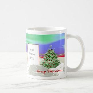 Árbol de navidad del bastidor de los corazones 2-P Taza De Café