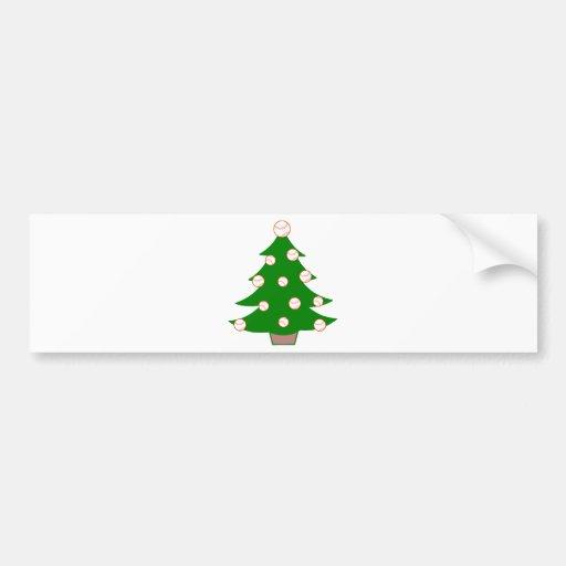 Árbol de navidad del béisbol etiqueta de parachoque