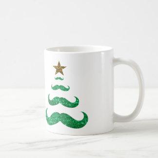 árbol de navidad del bigote taza clásica