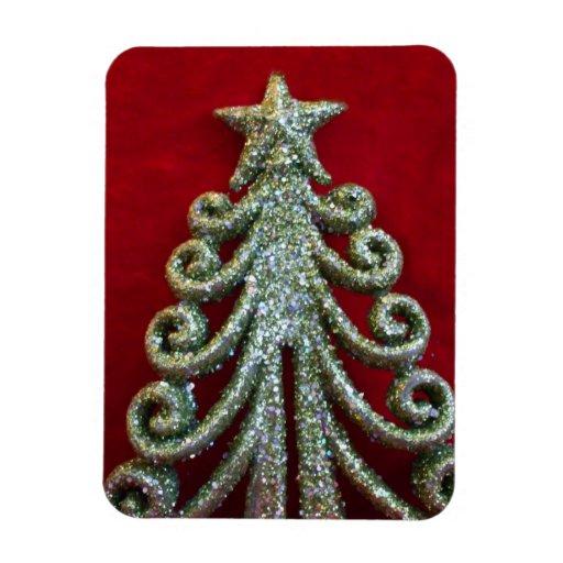 Árbol de navidad del brillo imanes de vinilo