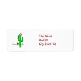 Árbol de navidad del cactus - etiquetas de etiqueta de remitente
