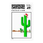 Árbol de navidad del cactus - sello