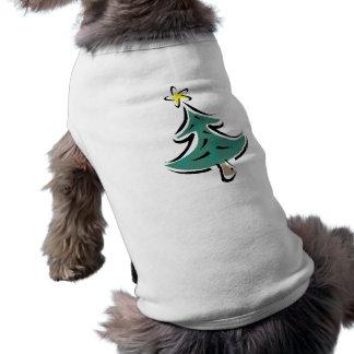 Árbol de navidad del chasquido camiseta de mascota