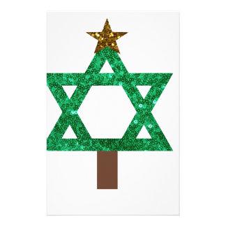 árbol de navidad del christmukkah papelería