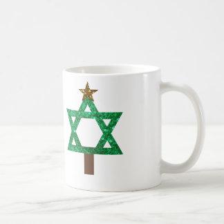 árbol de navidad del christmukkah taza de café