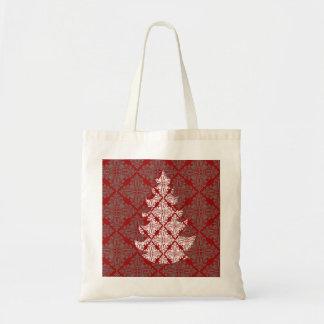 Árbol de navidad del damasco bolsa tela barata