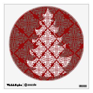 Árbol de navidad del damasco vinilo