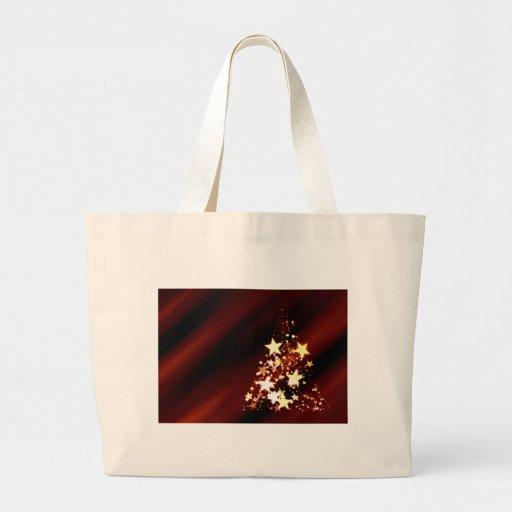 Árbol de navidad del día de fiesta bolsa de tela grande