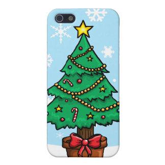 Árbol de navidad del dibujo animado iPhone 5 carcasas