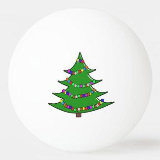 Árbol de navidad del dibujo animado pelota de tenis de mesa