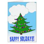 Árbol de navidad del dibujo animado tarjeta