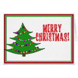 Árbol de navidad del dibujo animado tarjeta de felicitación