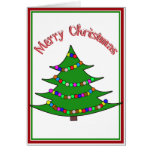 Árbol de navidad del dibujo animado tarjeton
