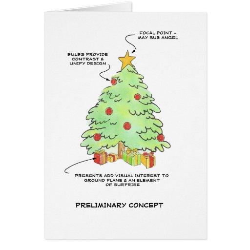 Árbol de navidad del diseñador tarjeta