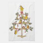 Árbol de navidad del erizo toalla de cocina