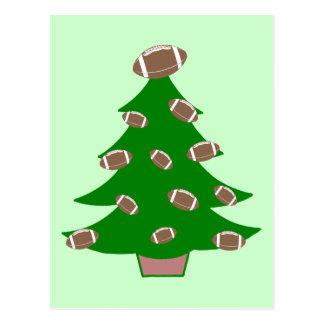 Árbol de navidad del fútbol tarjetas postales