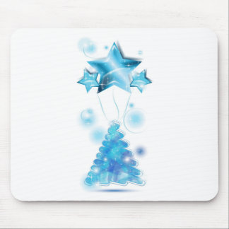 Árbol de navidad del garabato con los globos de la alfombrilla de ratón