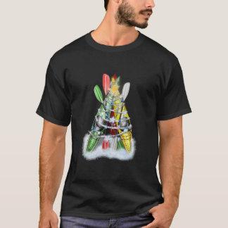 Árbol de navidad del kajak - camiseta