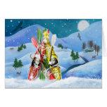 Árbol de navidad del kajak - maravillas de la natu tarjeta