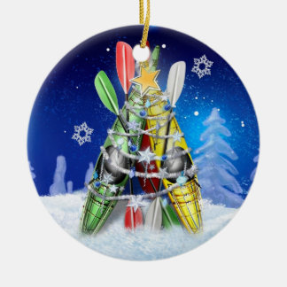 Árbol de navidad del kajak - ornamento adorno