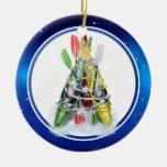 Árbol de navidad del kajak - ornamento adornos