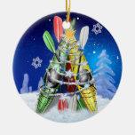 Árbol de navidad del kajak - ornamento ornamentos de reyes