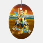 Árbol de navidad del kajak - tropical ornamentos de reyes