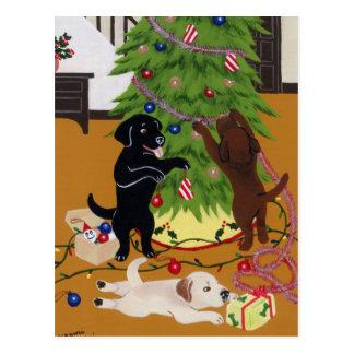 Árbol de navidad del labrador retriever